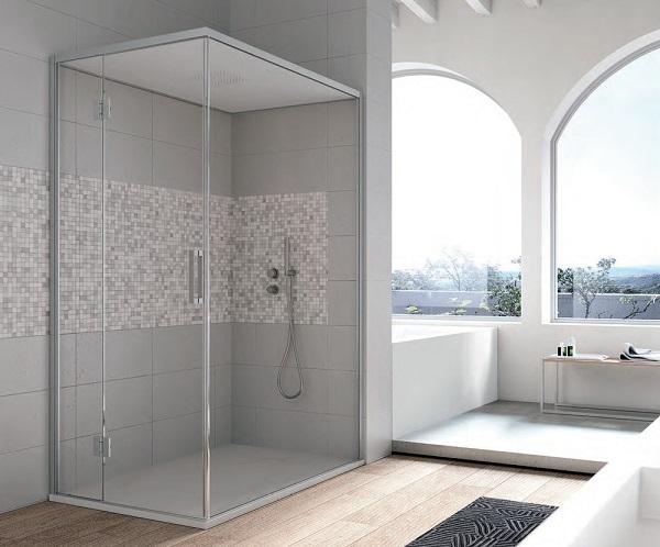 Box doccia con tetto per hammam