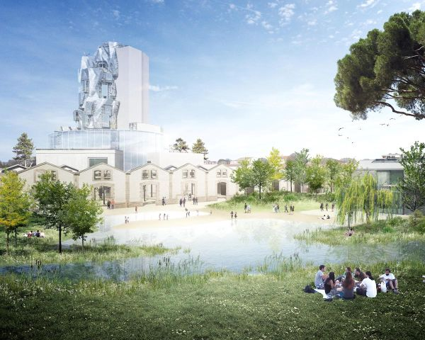 Rendering nuovo centro culturale di Arles