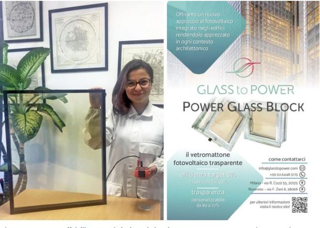 Le finestre fotovoltaiche di Glass to Power a Klimahouse 2020