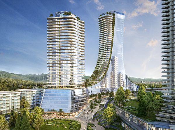 L'edificio 4 progettato da Piero Lissoni è un dei 10 grattacieli di Vancouver Oakridge