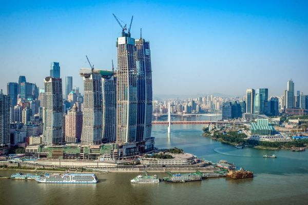 Gli 8 grattacieli dell'incredibile Raffles City Chongqing in Cina