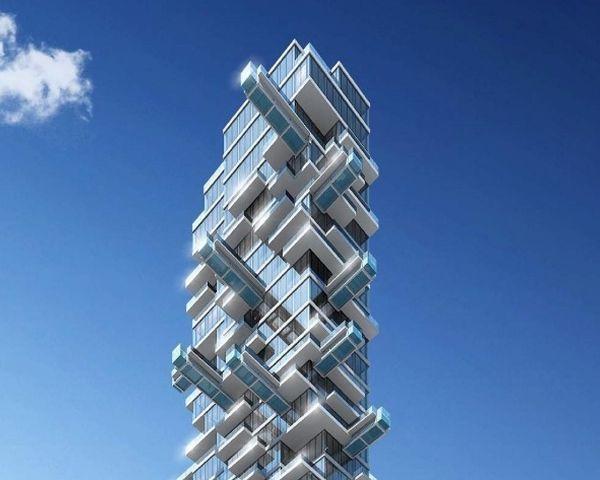 Progetto Grattacielo con piscine a sbalzo a Los Angeles