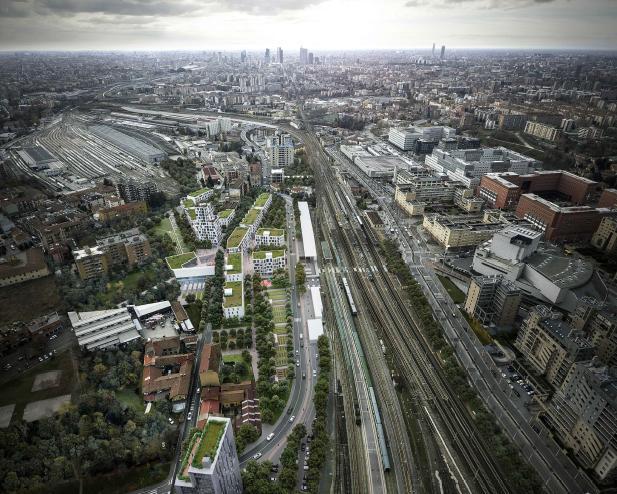 Reinventing cities: progetto vincitore Scalo Greco – L'innesto