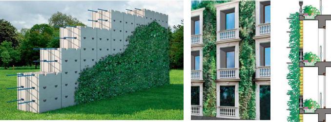 Giardino in verticale GREEN BLOCK di Senini