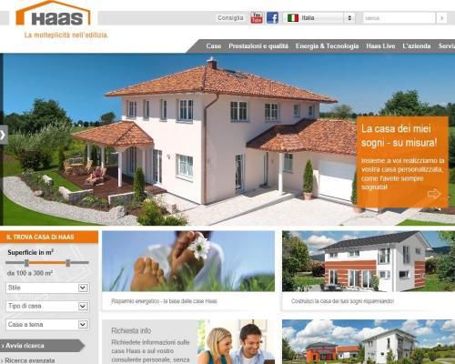 Il sito internet di haas ha un nuovo volto for Costruire la casa dei miei sogni online