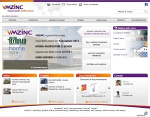 E' on line il nuovo sito VMZINC.IT 1