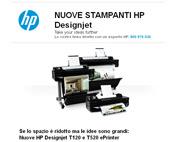 Nuove stampanti per grandi formato HP Designjet T120 e HP Designjet T520 ePrinter!