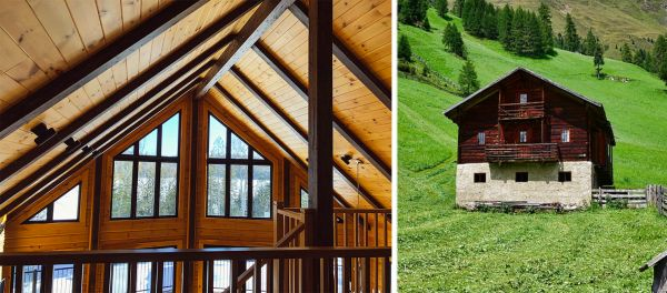 Legno e pietra, i materiali dell'architettura montana