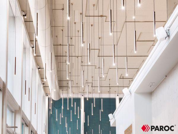 Link Industries presenta i soffitti acustici architettonici PARAFON STEP che assicurano il miglior benessere