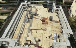 Il cantiere dell'edificio su 4 livelli realizzato a Roma