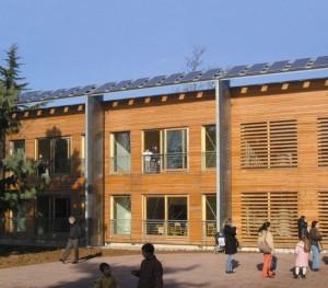 Esempio di realizzazione con sistema a telaio: edificio scolastico a Mezzago (MI)