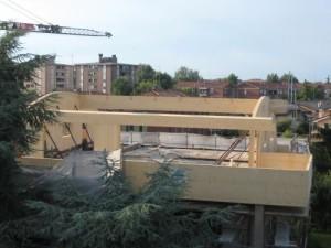 Esempio di realizzazione con sistema X-lam: sopralzo edificio residenziale a Padova