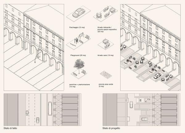 Nuova caratterizzazione dello spazio pubblico nel rione degli Archi ad Ancona