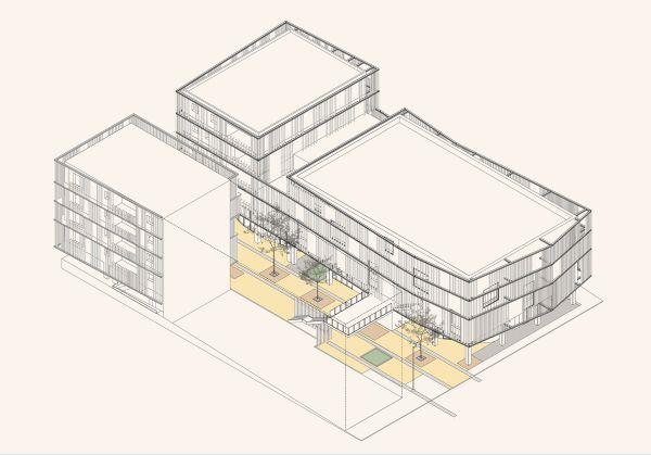 Progetto di edilizia convenzionata nel Rione degli archi ad Ancona
