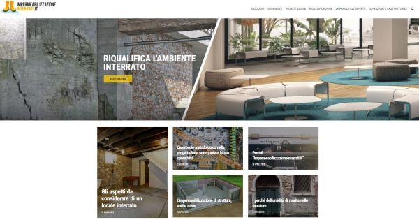 impermeabilizzazioneinterrati.it nuovo sito di Volteco dedicato all'impermeabilizzazione