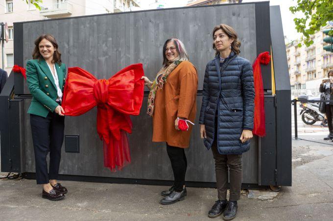 Inaugurazione della nuova edicola in legno ecosostenibile di Milano