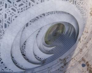 Puzzle Ball Theatre, il teatro ispirato all'arte delle sfere concentriche