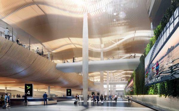 Architettura in stile australiano e paesaggi naturali per il nuovo aeroporto di Sydney firmato ZHA