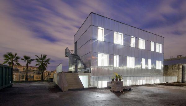 Il nuovo HUB a Roma con la facciata in alluminio