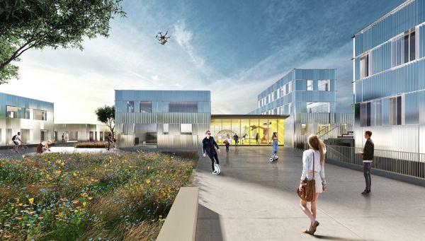Nel masterplan del nuovo HUB a Roma è prevista la realizzazione di una grande piazza aperta
