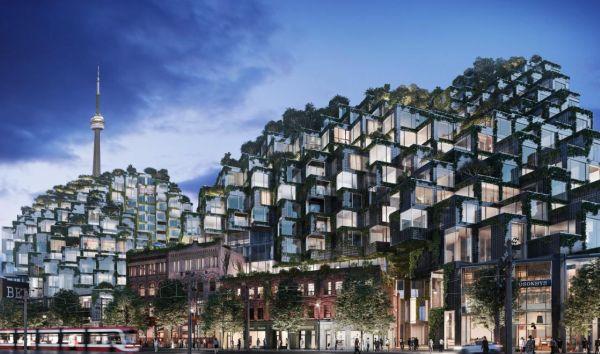 King Toronto, il condominio di lusso dall'aspetto pixellato