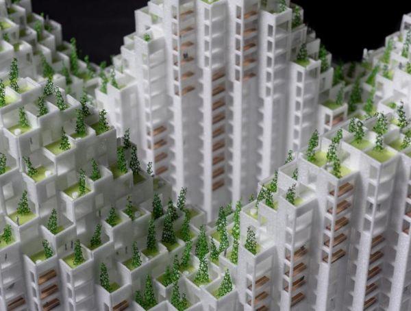 Render progetto King Toronto: il verde è centrale