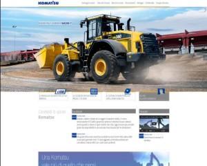 Completamente rinnovato il sito Komatsu 1