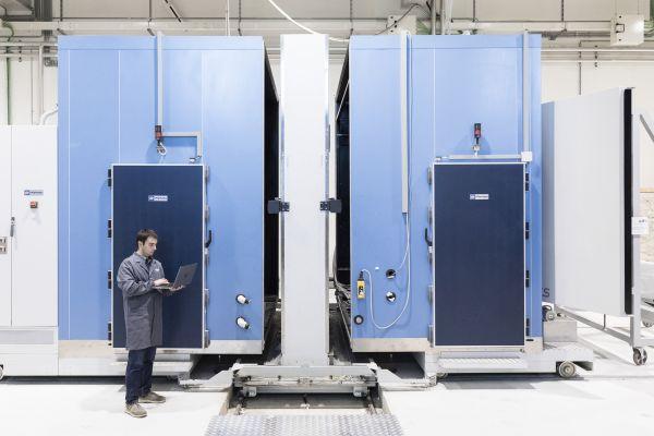 La camera che simula tutti i climi della Terra per lo studio delle dispersioni di calore sui differenti involucri edilizi nei laboratori di Eurac Research. © FABRIZIOGIRALDI