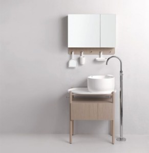 Ukiyoe, lavabo cm 42 con vassoio + mobile completo