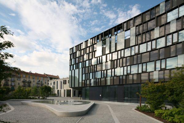 Progetto headquarter Lavazza a Torino con la fontana