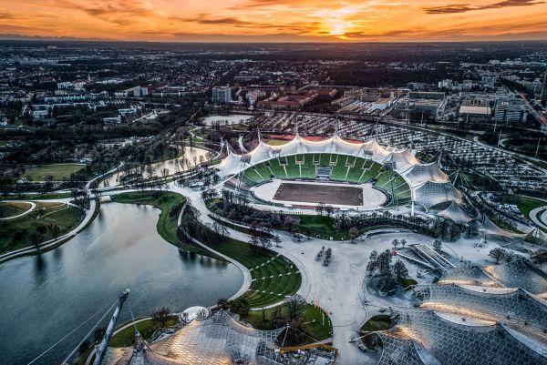 Le strutture dei giochi olimpici all'interno delle città