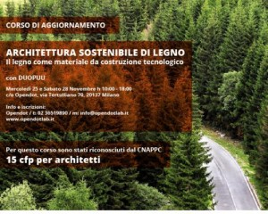 Il legno nell'architettura sostenibile