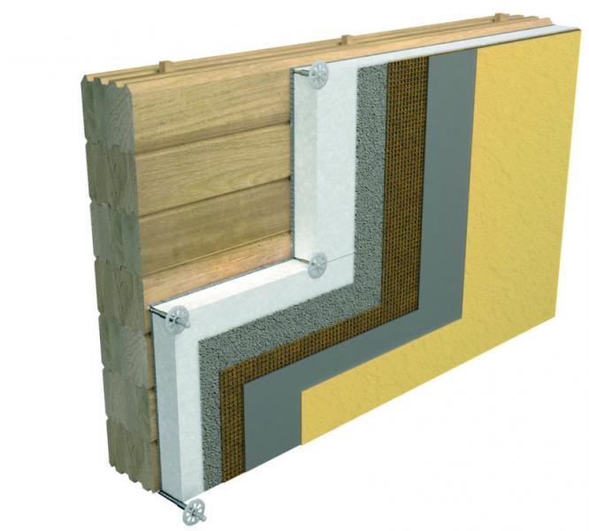 Sistema a cappotto per supporti in legno Thermophon PW