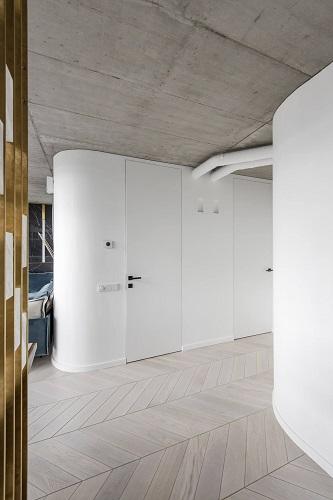 Porte invisibili filo muro su telai ECLISSE Syntesis® Line Battente a tutta altezza