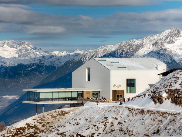 Esterno Lumen Museum a Plan de Corones, Alto Adige