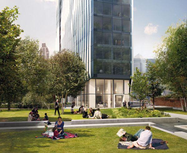 Tanti i giardini nella torre di vetro di Londra The Madison