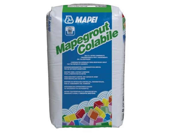 Mapegrout Colabile di Mapei: malta a ritiro compensato fibrorinforzata colabile
