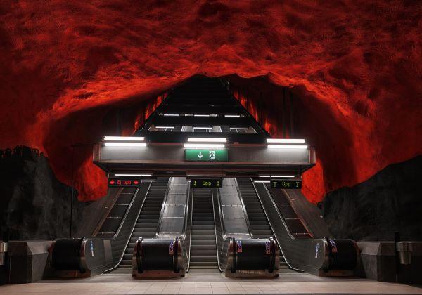 Metropolitana di Stoccolma, la stazione di Rådhuset