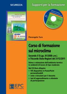 CORSO DI FORMAZIONE SUL MICROCLIMA