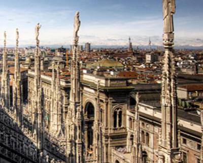 Vista della città di Milano dal Duomo