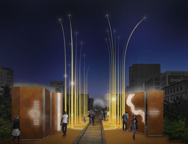 L'ingresso del nuovo parco Blue Line Park in Corea del sud
