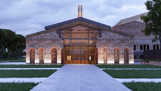 Render del nuovo Museo del Territorio di Riccione