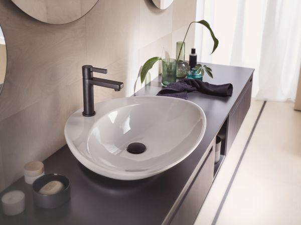 Nobili rubinetterie, collezione Lira Uno, miscelatore monocomando, finitura velvet black