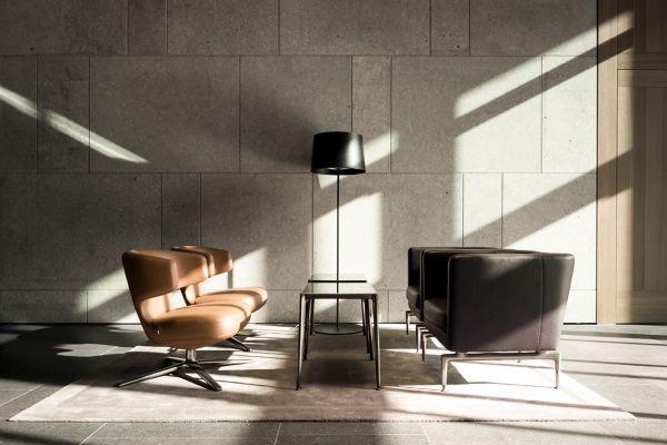 Progettazione dell'edificio per uffici Nove di Monaco di Baviera by Antonio Citterio e Patricia Viel. Particolare degli interni