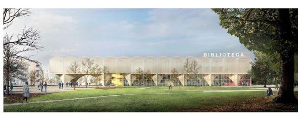 Progetto vincitore nuova biblioteca Lorenteggio a Milano