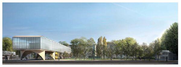 Le superfici trasparenti caratterizzano la nuova biblioteca di Lorenteggio