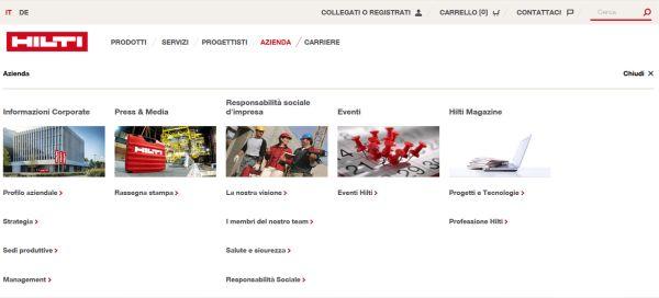 nuovo sito web Hilti 3