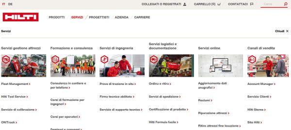 nuovo sito web Hilti 4