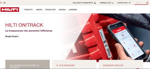 nuovo sito web Hilti