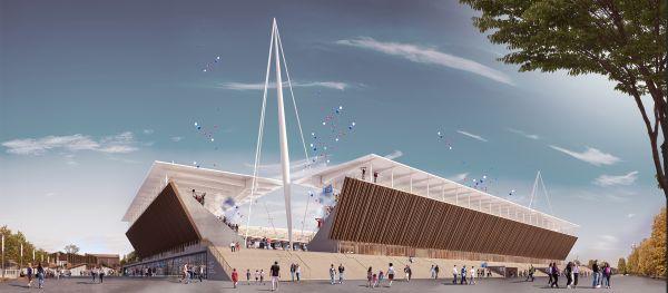 Render del nuovo stadio di Novara